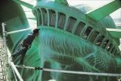 "JUDD MORRISSEY, ""WORKMEN TONY SORACI KISSING MISS LIBERTY"", 1984,"