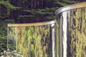 "DAN GRAHAM, ""TWO WAY MIRROR: HEDGE ARABESQUE"", 2014,"