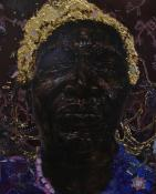 SHERWIN OVID, 54X72X2, THE CULT OF MY BLACK MOTHER