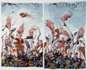 """WANGECHI MUTU, """"FUNKALICIOUS FRUIT FIELD"""", 2007,"""